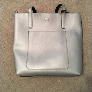 Silver and Black Reversible Purse